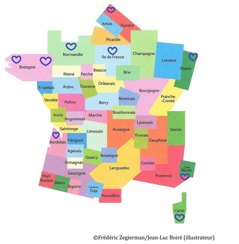 Spécialité du littoral français, région parisienne et Alsace