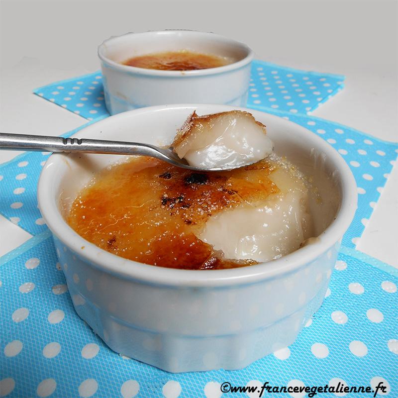Crème brûlée (sans lait, sans oeuf)