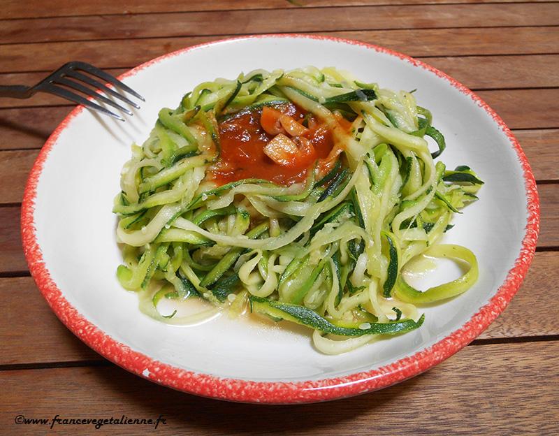 Spaghetti de courgette (recette végane)