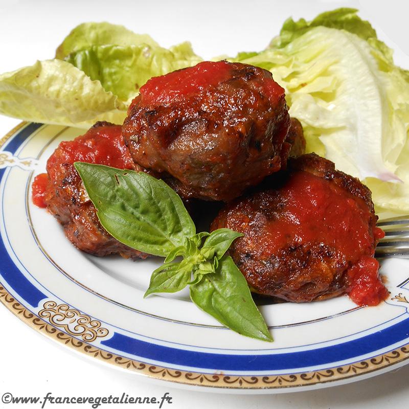Boulettes d'aubergine et champignons (recette végane)