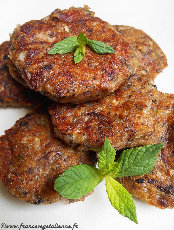 Fricadelles-boulettes aux champignons (recette végane)