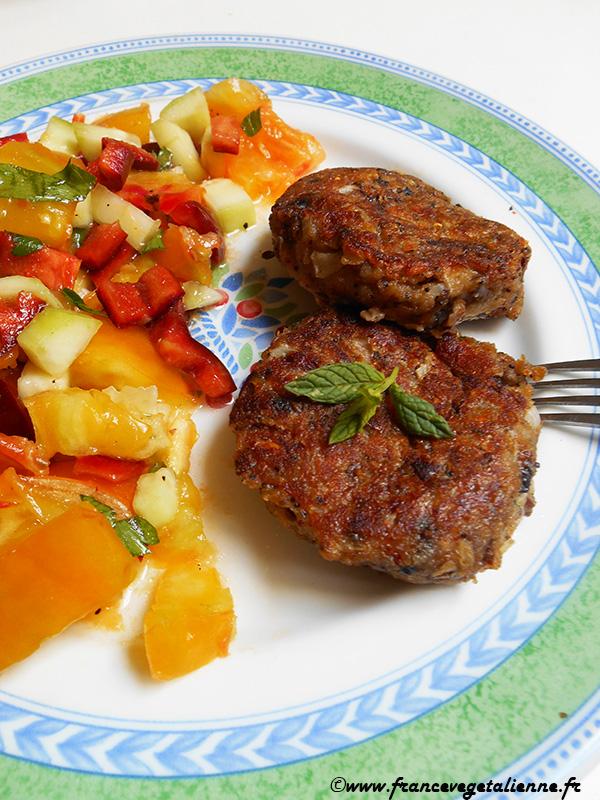 Fricadelles-boulettes aux champignons (végétarien)