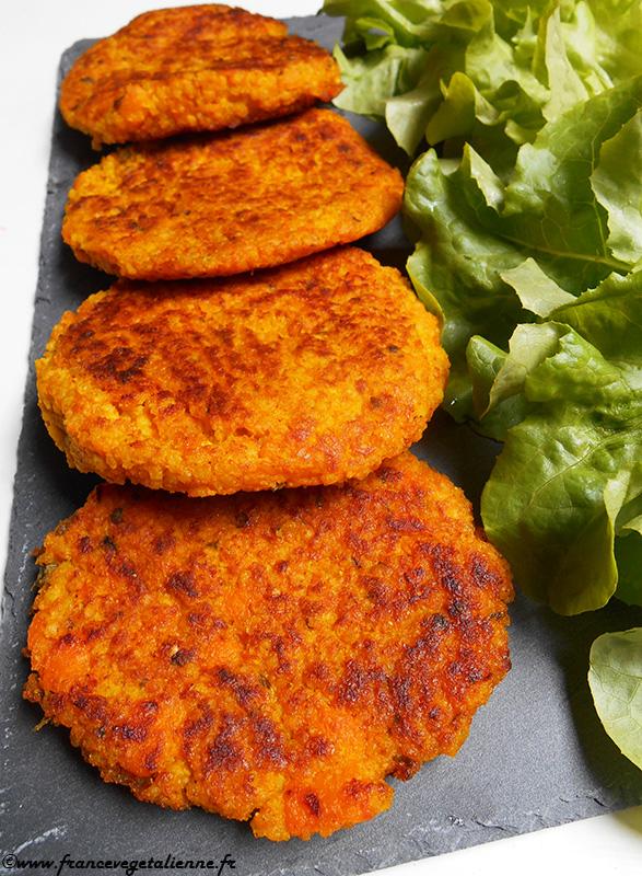 Galettes de courge et millet (vegan, sans gluten)