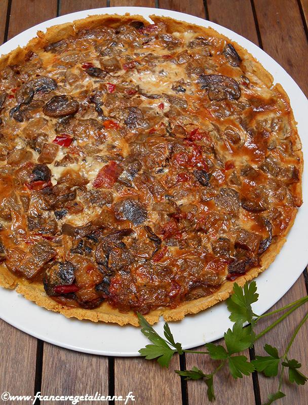 Tarte de polenta aux légumes (sans oeuf, sans lactose, sans gluten)