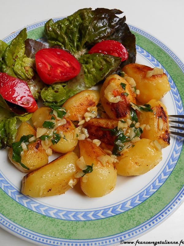 Pommes de terre à l'échirlète (recette végane)