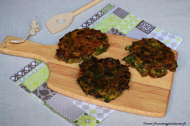 Farçous (beignets aux herbes; recette végane)