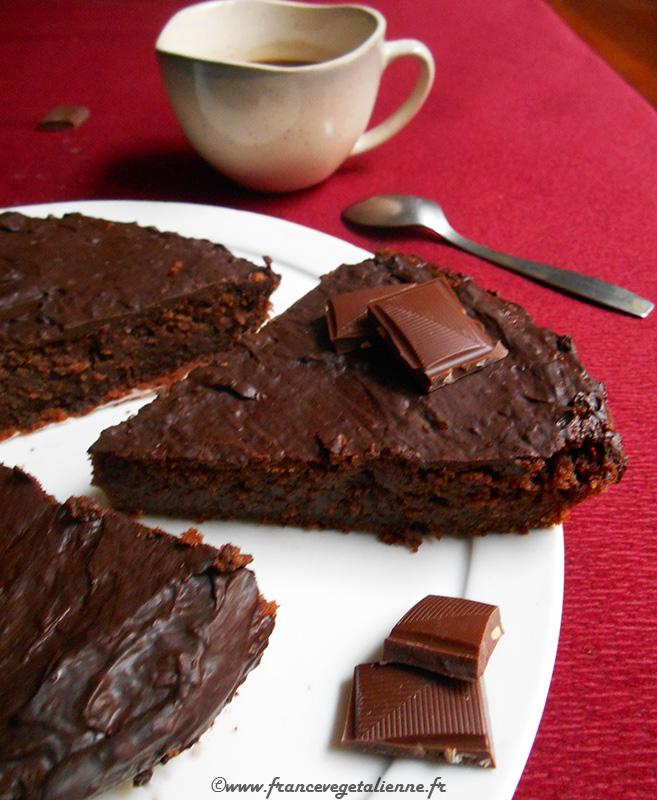 Reine de Saba (gâteau au chocolat, sans oeuf, sans lait)