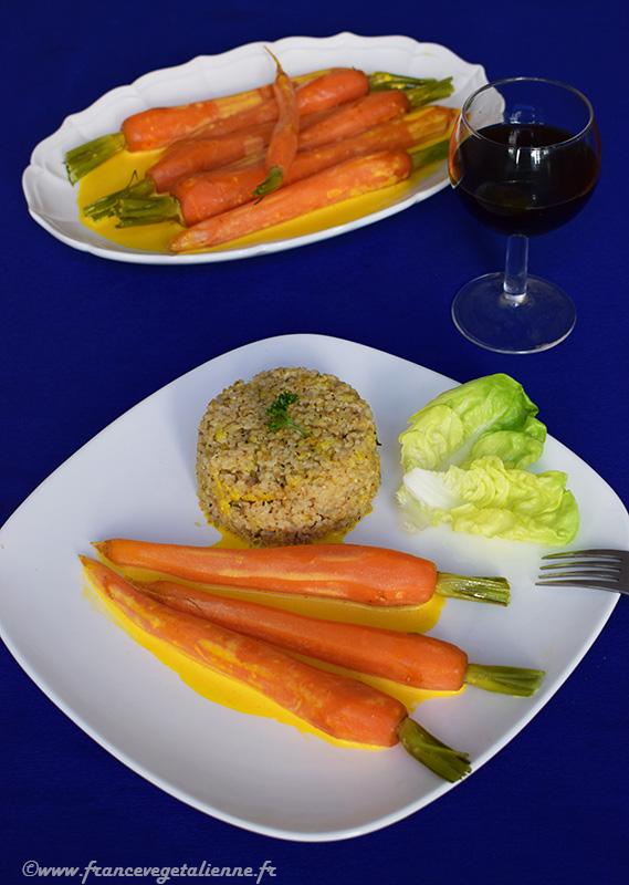 Carottes au safran (vegan)