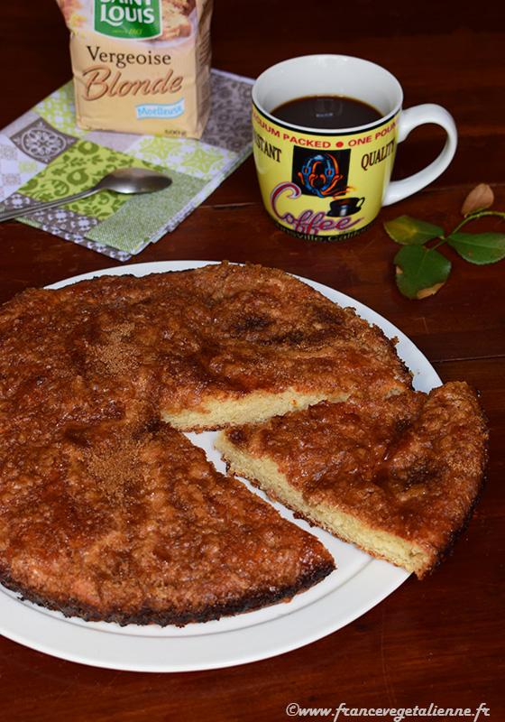 Tarte au sucre (recette végane)