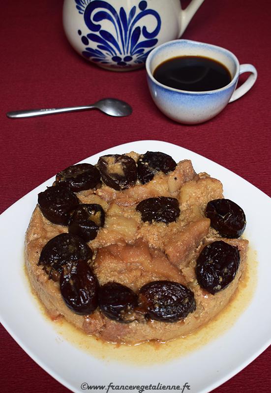 Coupetade (pudding aux pruneaux, recette végane)