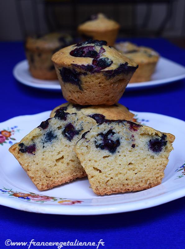 Muffins aux myrtillles (recette végane)
