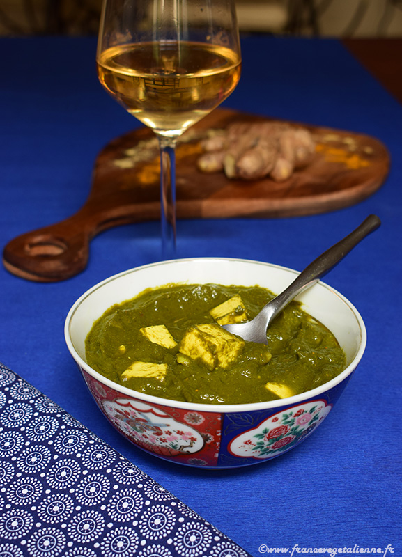 Palak paneer (curry aux épinards et tofu)