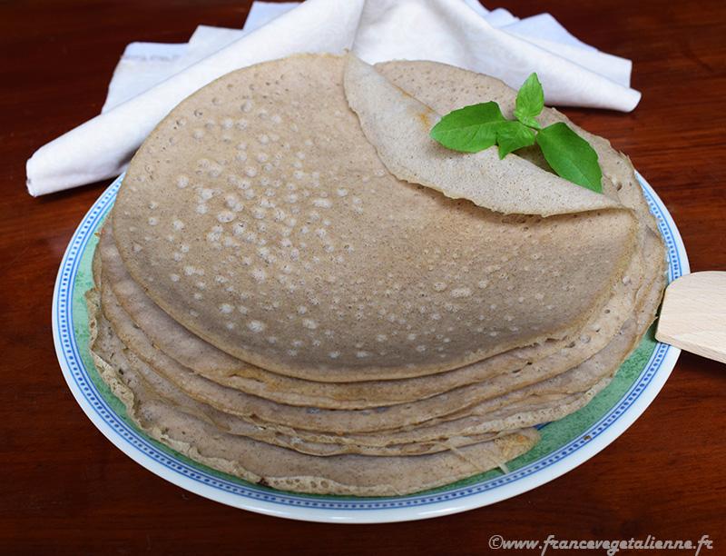 Bourriols (galettes de blé noir auvergnates, recette végane et sans gluten)