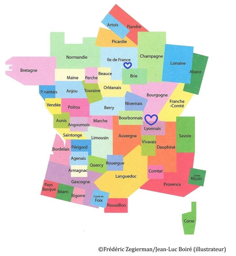 Spécialité de la Marne (île-de-France), de la Saône (Lyonnais, Bourgogne)