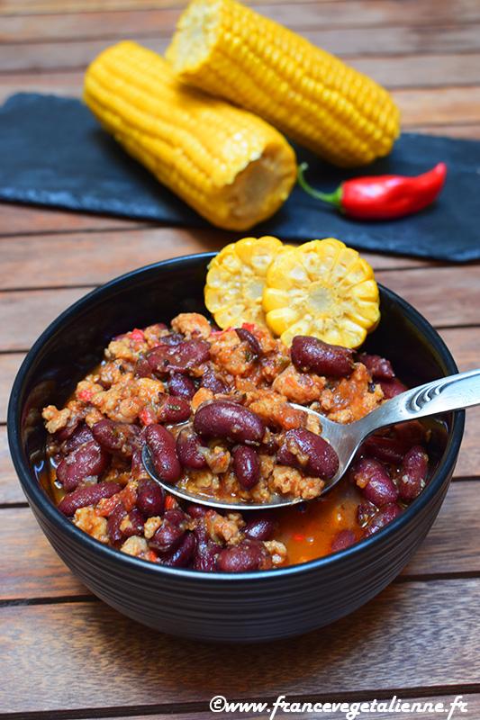 Chili sin carne (recette végane)