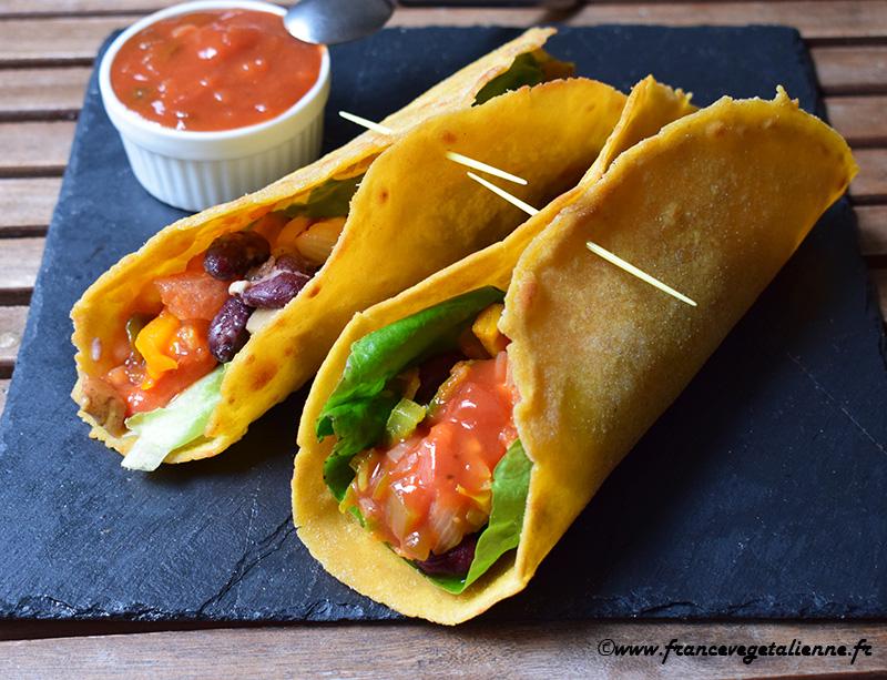 Tortilla mexicaine fourrée (recette végane)