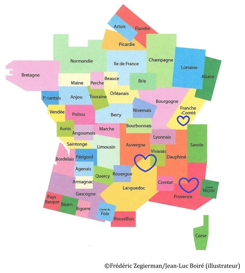 Spécialité de Provence, Languedoc, Dauphiné, Auvergne, Vivarais, Franche-Comté…