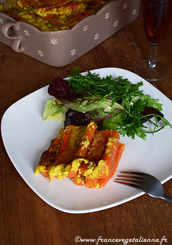 Gratin de carottes (vegan)