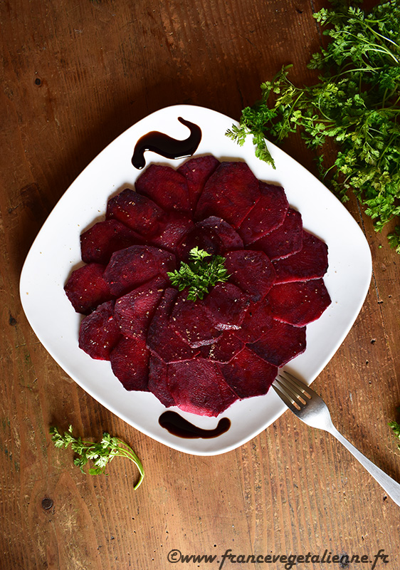 Carpaccio de betterave (vegan)