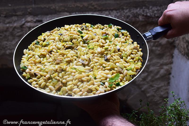 Poêlée de flageolets aux légumes (recette végane)