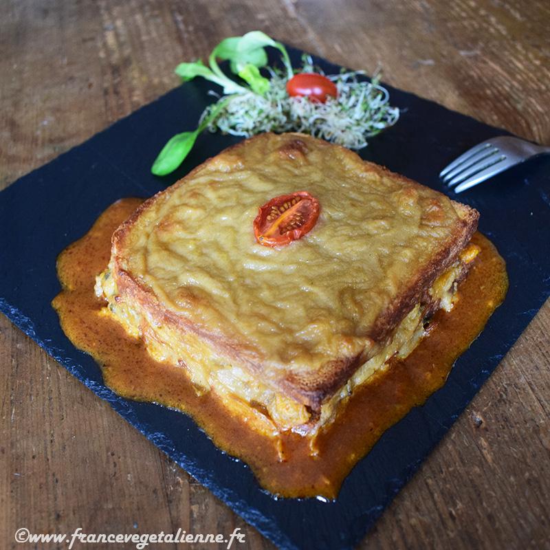 Francesinha (croque-monsieur portugais, recette végane)