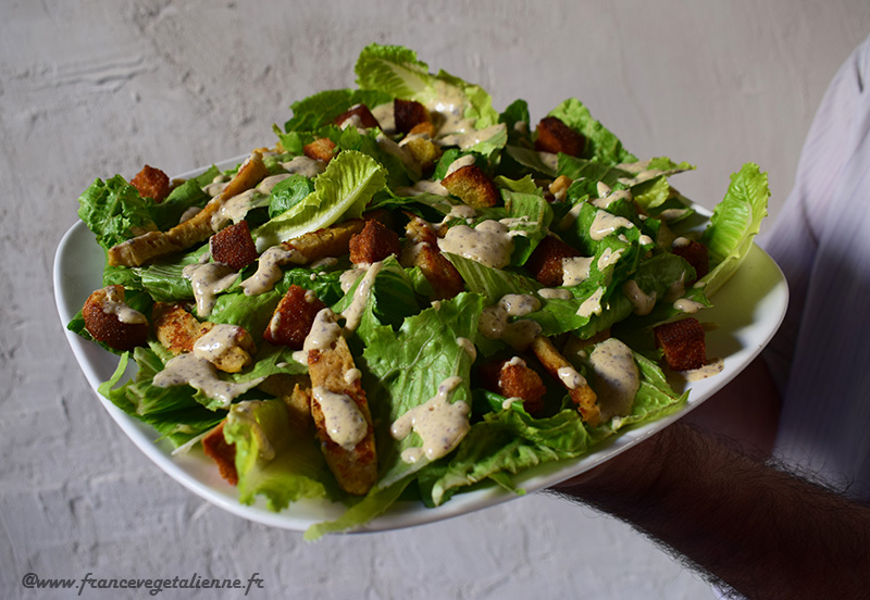 Salade César (recette végane)