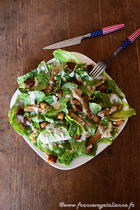Salade César (vegan)