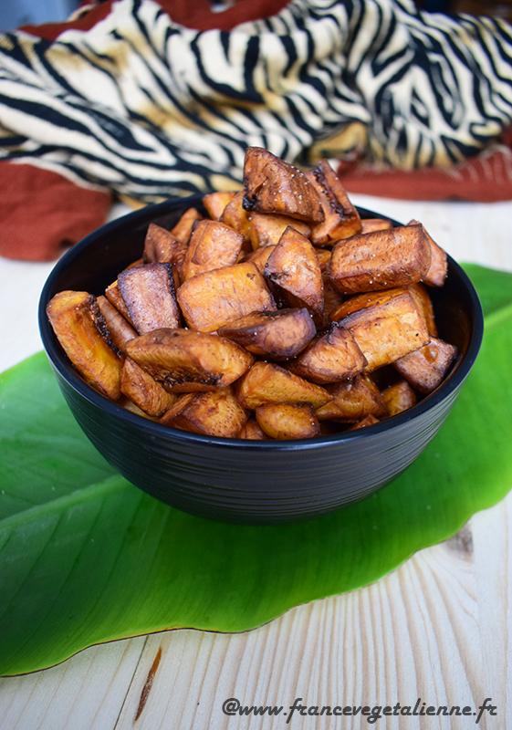 Alloco (bananes plantain frites, recette végane)