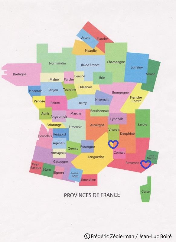 Spécialité du Languedoc, Dauphiné, Provence, Pays niçois…