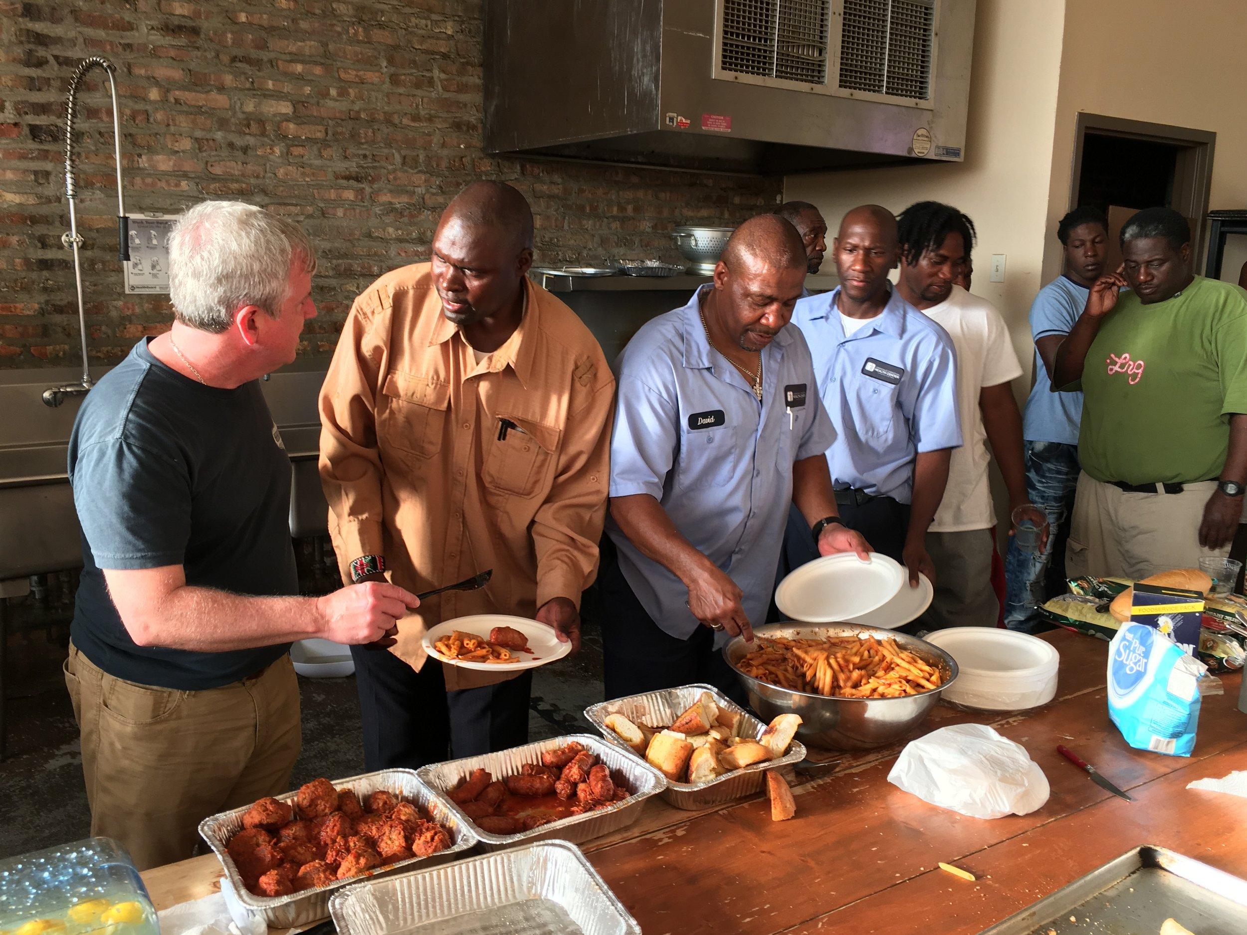 Men of Hope Meal  at Hope House in June 2016 .