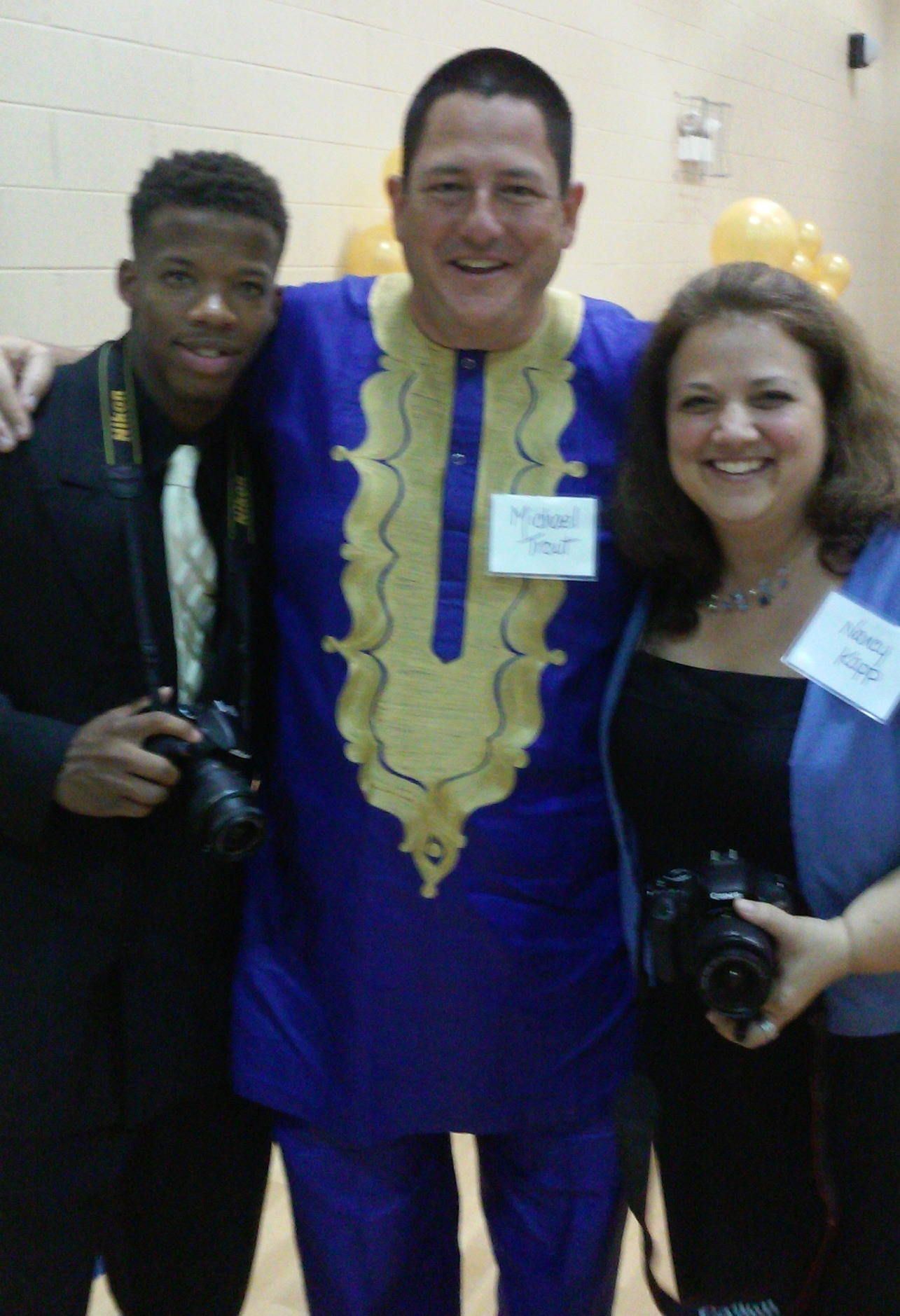 Angelo, Mike and Nancy at YMEN's  Annual Family Night