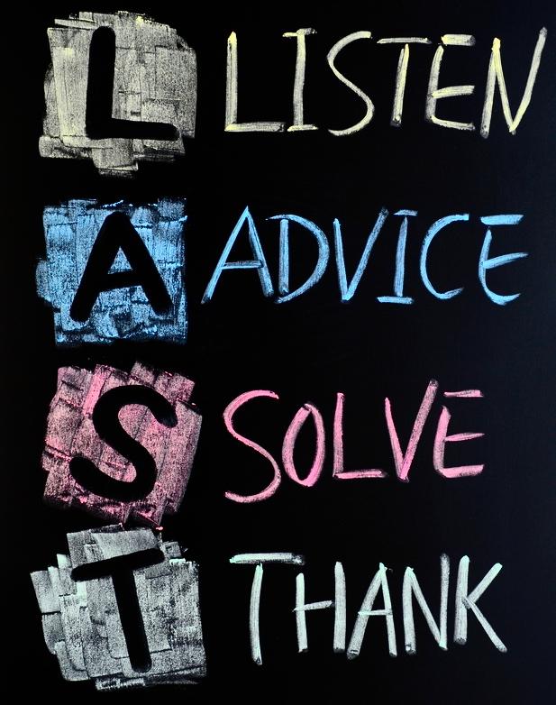 last-acronym-listenadvicesolve-and-thank-written-on-a-blackboard