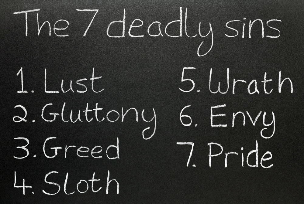 list-of-the-7-deadly-sins-on-a-chalkboard