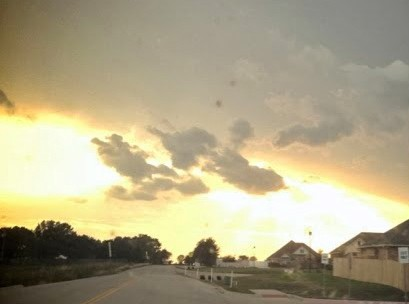 A friend took this picture, this was minutes after David's death above our home.
