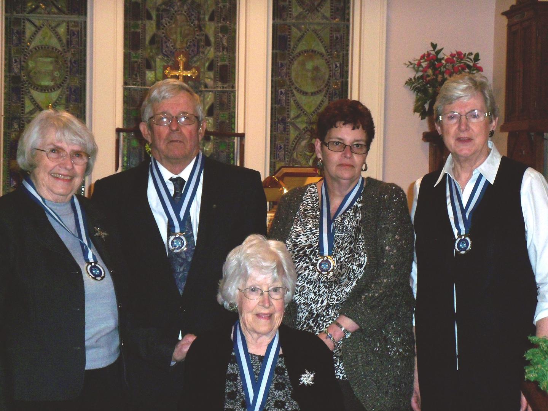 ODT appointees standing, left to right: Ann Orser, ODT 2015, Don Walker, ODT 2015, Janet Coombs, ODT 2015, Julie Poore, ODT 2014,Evelyn Reid (seated), ODT 2015.