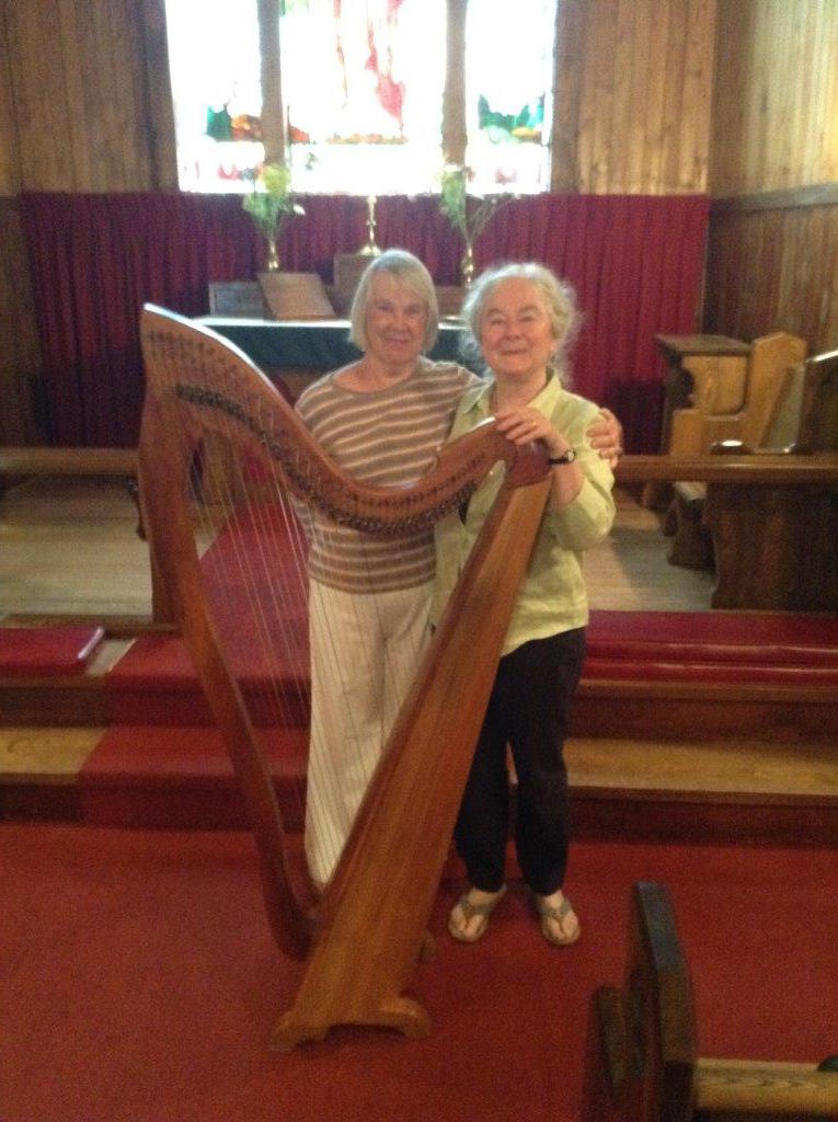 August 21, 2016, Mary Lou Stanton, organist for Good Sam, with Mary Muckle, guest harpist.