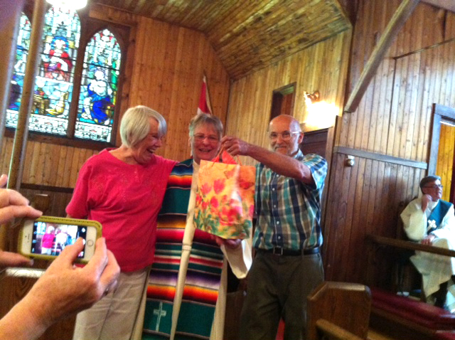 3 congregations at Good Sam celebrating organist Mary Lou Stanton's 65+ years of service.