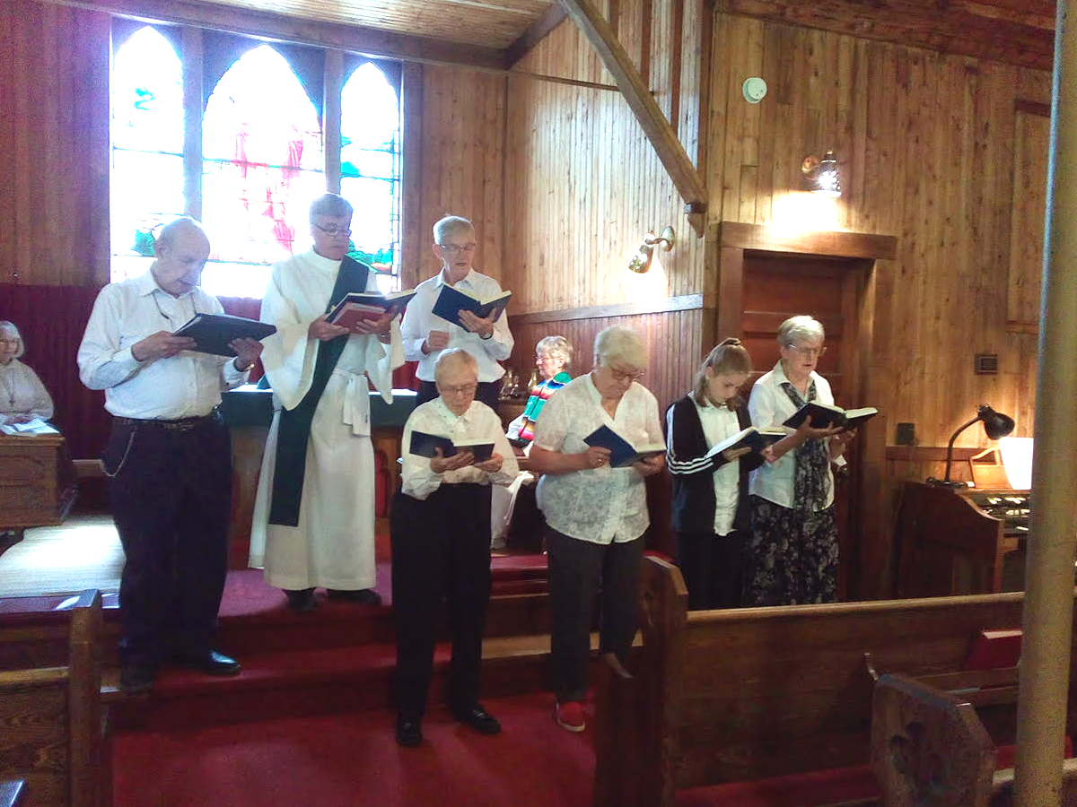 Parish choir sings at the combined service at Good Sam