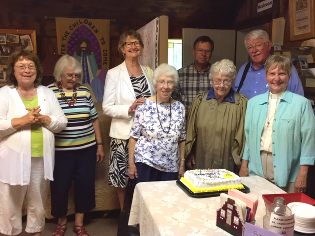St Luke's July birthdays & anniversaries cake Sunday