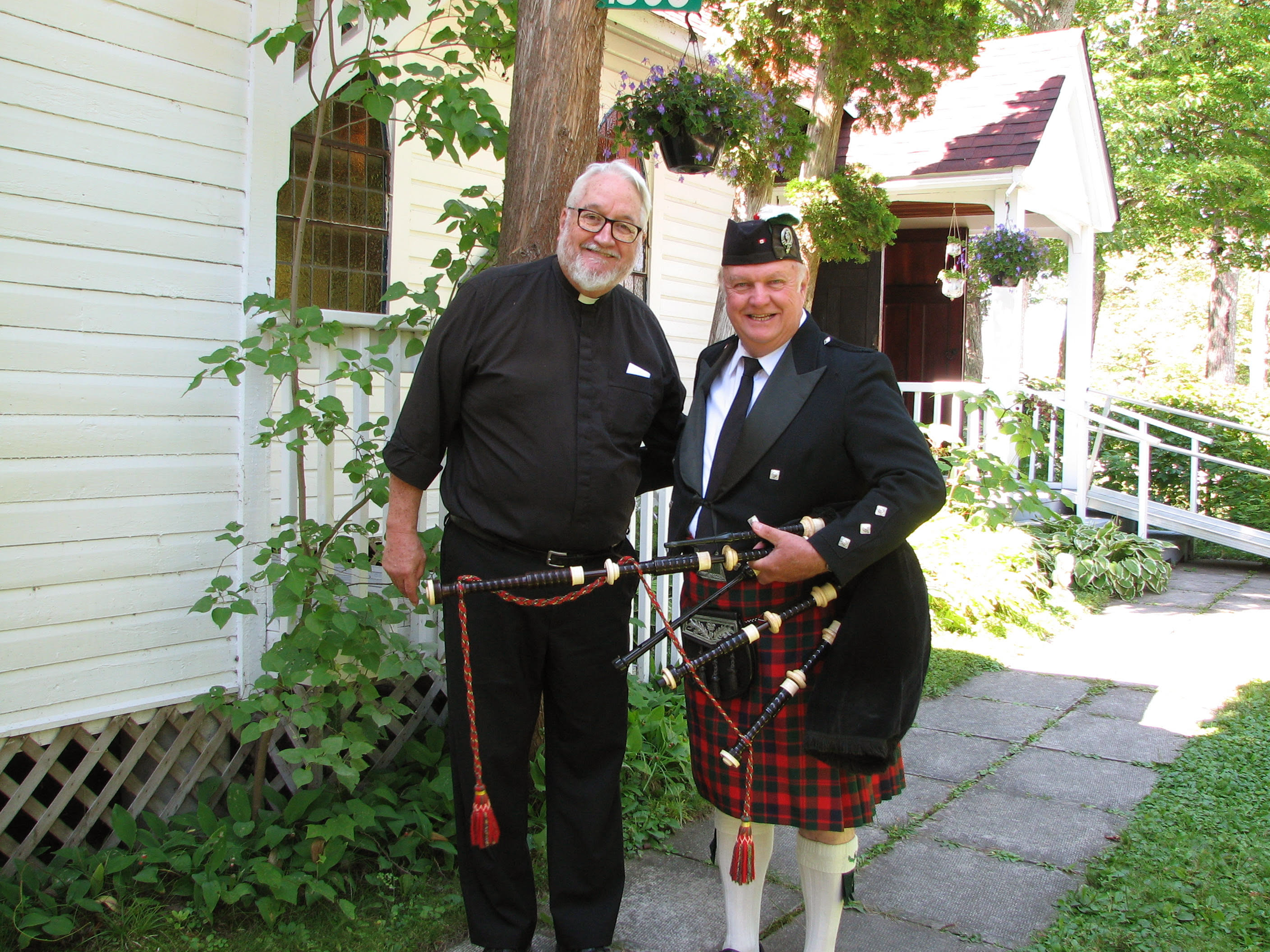 Terry Bennett and Fred Shulz, winding up the summer services, Sept. 1, 2019.