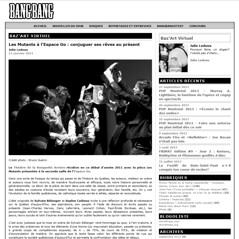 Bang bang blog, 12/01/2011