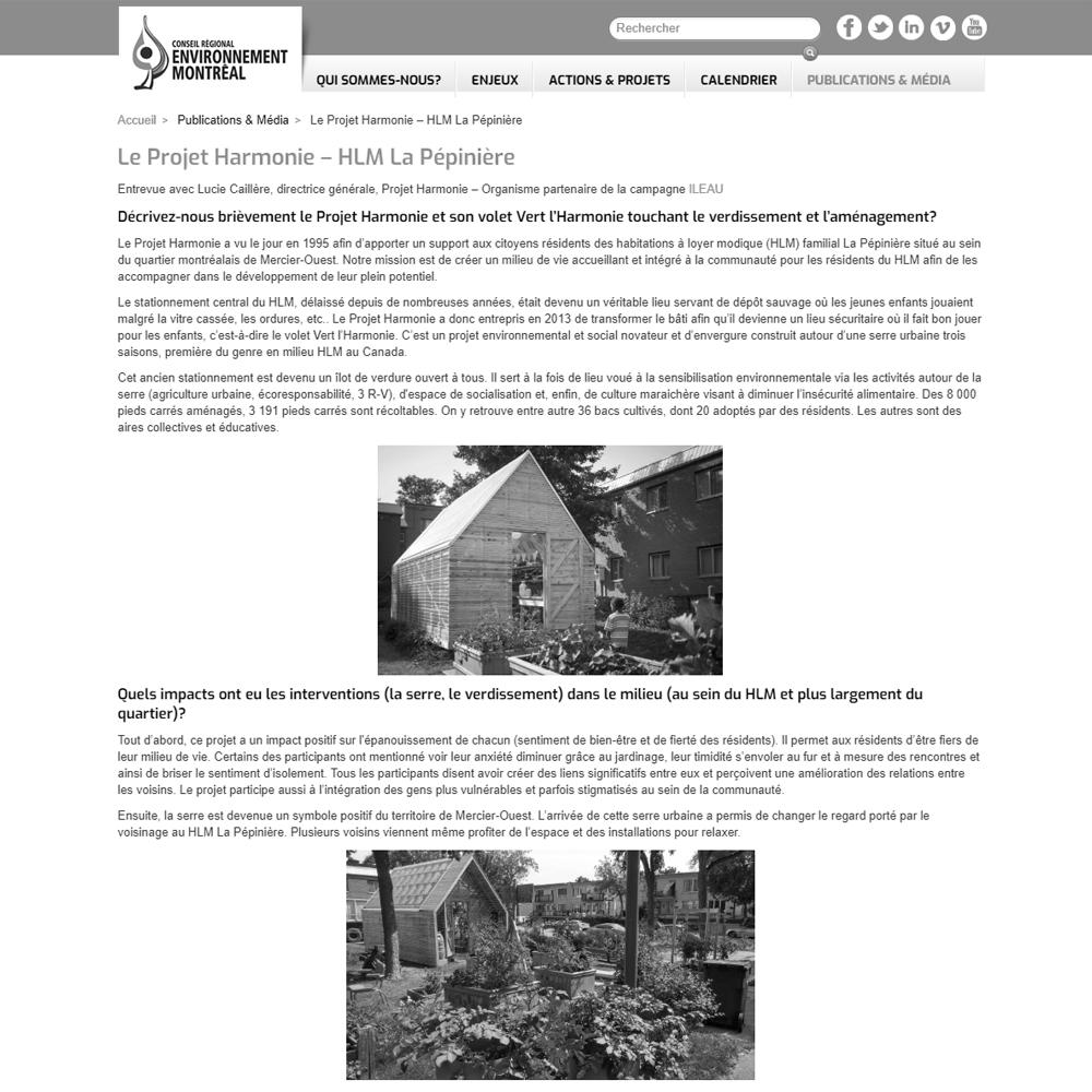 CREM - Le Projet Harmonie