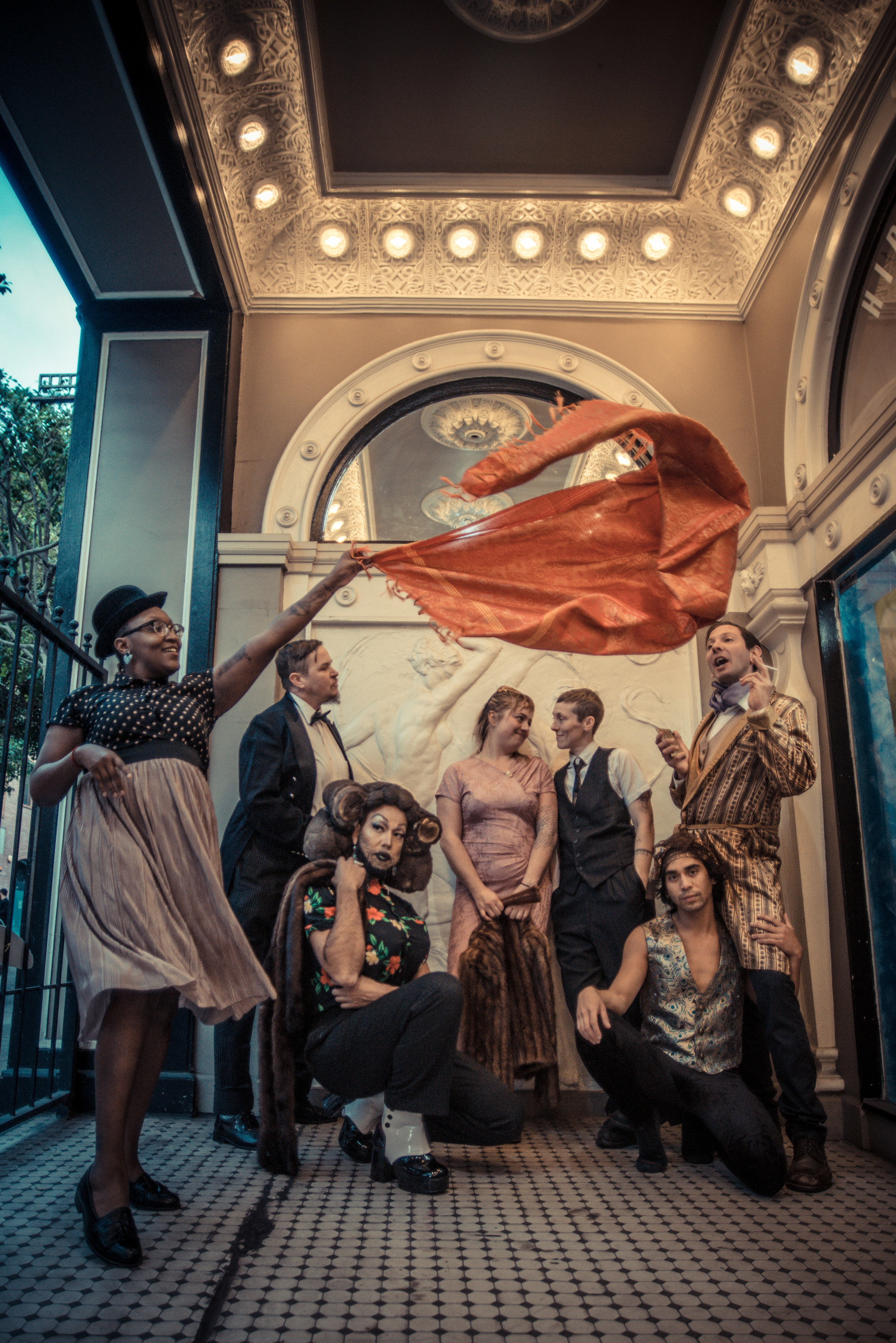 OOS (L to R) Lisa Evans, Diego Gomez, Sarah Paradise, Ariel Harris-Porada, Silky Shoemaker, Ryan Hayes, Earl Alfred Paus PC Robbie Sweeny.jpg