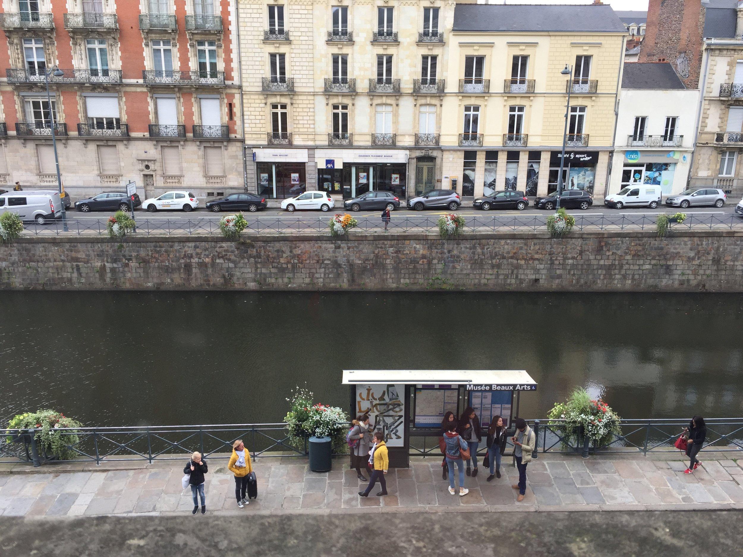 Vue depuis le Musée des Beaux-Arts de Rennes, 6 octobre 2017.