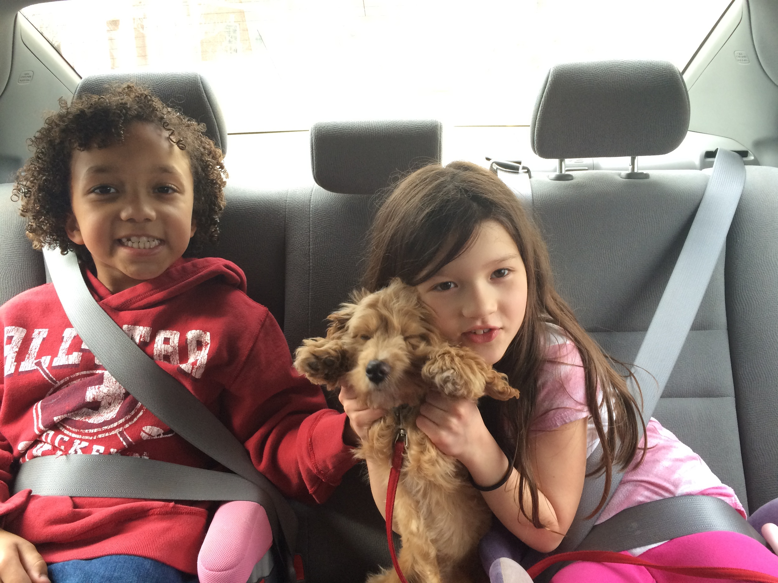 Hunter and my daughter, with our puppy