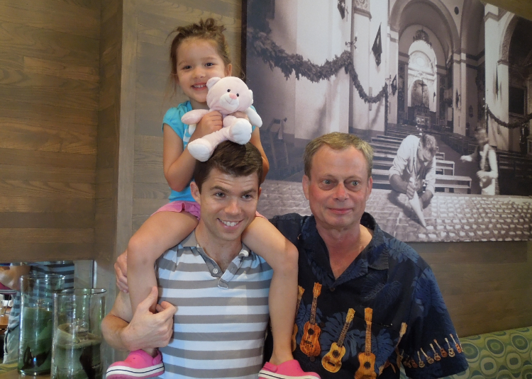 2014: Me, my daughter,and Paul. 26years of being matched!!