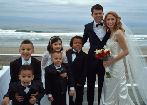 The entire wedding party was children.  Hunter, my Little, is the boy next to me.  My daughter is the little girl.