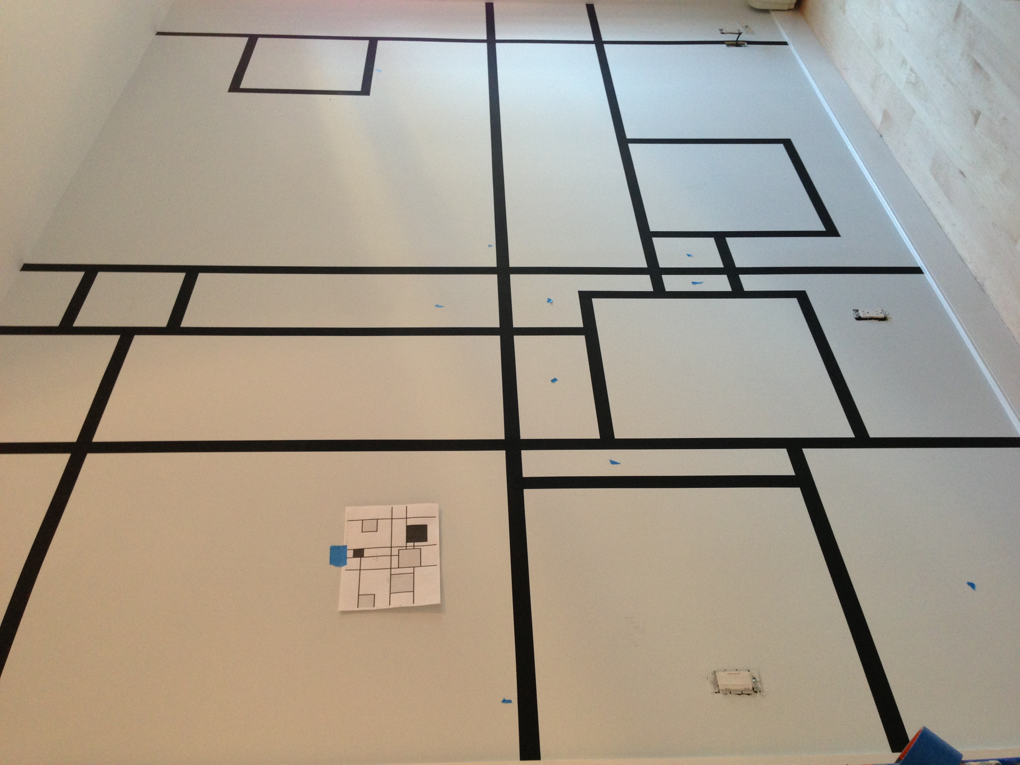 Mapping out an Ode to Piet Mondrian in Park Slope.