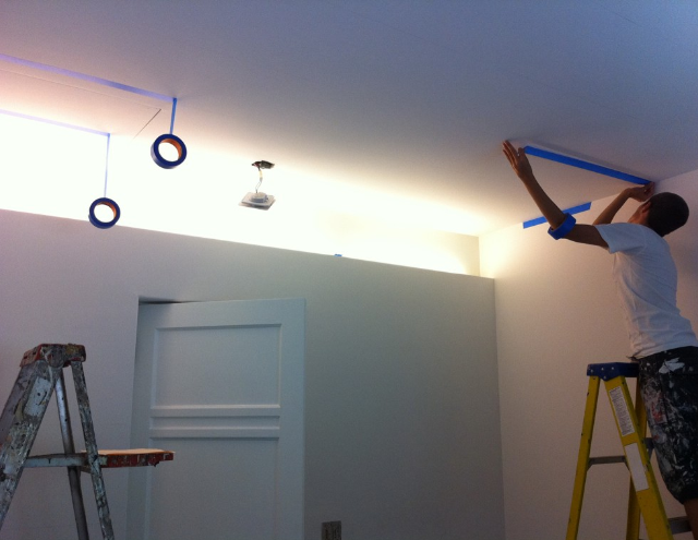 Mapping and masking the ceiling in Los Feliz.