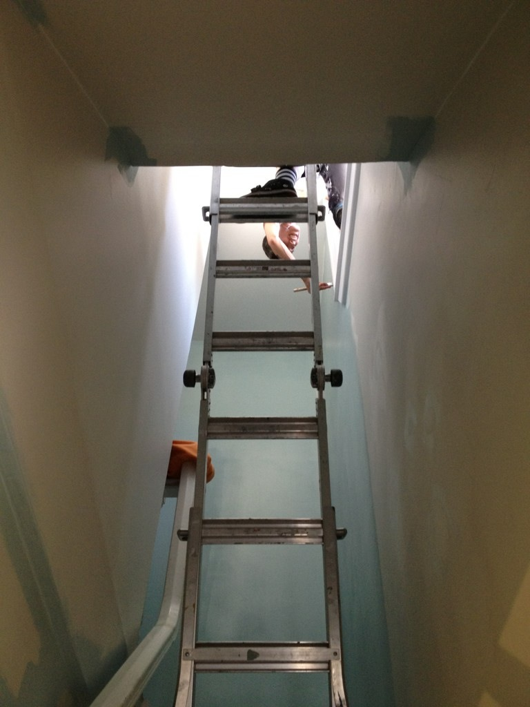 As a painter, you must be flexible and have no fear of heights ;)